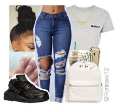 """""""Untitled #46"""" by ronkexx12 on Polyvore featuring Topshop, NIKE and BP."""