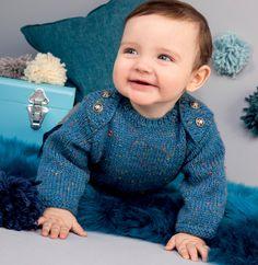 Modèle pull jersey layette - Modèles Gratuits Layette - Phildar
