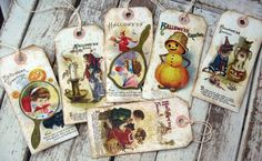 Vintage Halloween shipping tags