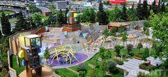 Детская площадка в Cтамбуле. Игровой паркур с фантазийным подтекстом от Carve.