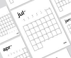 Kalendereinlagen für den Filofax A5, Personal und Pocket zum Download und Selbstdrucken für 2018 und 2019