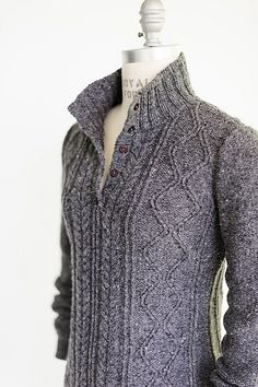 Ireland's Aran Isles inspiration - modern cabled sweaters ______________________________________________ Ravelry: Project Gallery for Crosby pattern by Julie Hoover _______________________________________________ Sweater Knitting Patterns, Knitting Stitches, Knit Patterns, Hand Knitting, Knitting Wool, Sweaters For Women, Men Sweater, Knit Sweaters, Cardigans