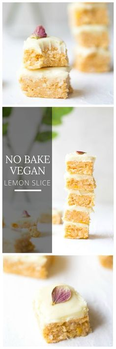 Treat yourself with this delicious raw vegan lemon slice prepared in under 30 minutes Turn this comfort food into a crowd pleaser Easy tasty and most importantly guilt fr. Raw Vegan Desserts, Raw Vegan Recipes, Vegan Treats, Chocolate Slice, White Chocolate, Roh Vegan, Lemon Slice, Guilt Free, Sweet Treats