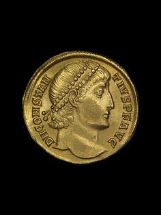 Imperial Roman gold coin (obverse). Reign of Constantius II. Minted in Antiochia and Orontem, 324 - 361 A.D. | The British Museum