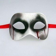 Zombie Unisex Male Mens Venetian Masquerade Mask. $29.99, via Etsy.