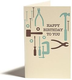 Greeting Cards - Everyday - Birthday - Birthday Tools - Snow & Graham: Letterpress Stationery, Invitations, Greeting Cards and Calendars