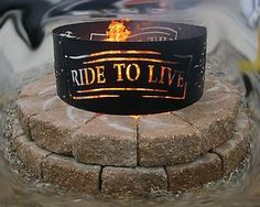 Metal Fire Ring 'V Twin Man Cave Collection' Made in The USA Harley Motorcycle   eBay