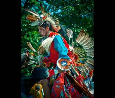 Colorful Warrior of the Shinnecock Nation