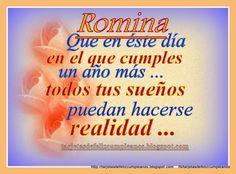 Romina , cartelitos de cumpleaños  con nombres de mujer My Name Is, Youtube, My Love, Purse, Happy Birthday Cards, Birthday Cards, Birthday Songs, Birthday Display