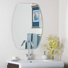 Decor Wonderland Frameless Oval Beveled Mirror *** Check out this great product. (This is an affiliate link and I receive a commission for the sales)