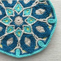 """bhookedcrochet: """"I have a serious obsession with mandalas lately and this one by @mobiusgirl is exactly why! Wow!! Keep your inspiration coming by using #bhooked on your photos. I'll share one or two more this evening :) #crochet #bhooked #fanfriday..."""