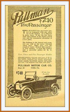 1916 May -Pullman Five Passenger $750 - Pullman Motor Car Co., York, PA