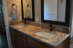 Sanluiz granite with a chipped edge and a 4 inch back splash