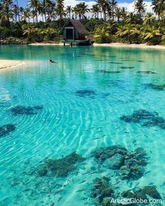Turquoise lagoon, Bora Bora