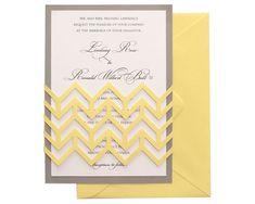 Chevron Wedding Invitations by TimelessPaper on Etsy, $2.75