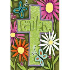 Faith Cross Double Sided Garden Flag