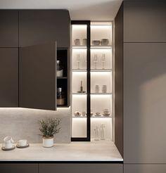 Kitchen Room Design, Kitchen Cabinet Design, Modern Kitchen Design, Living Room Kitchen, Home Decor Kitchen, Interior Design Kitchen, Küchen Design, House Design, Cocinas Kitchen