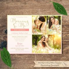 Mini Session Template Mother's Day Mommy and Me by NovemberHouse