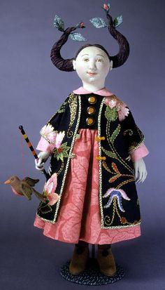 Cloth doll by Shelley Thornton.