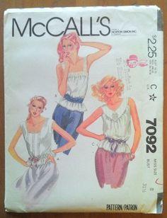 Vintage McCall's Pattern 7092 Misses' tops