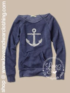ANCHOR slouch pullover sweatshirt.
