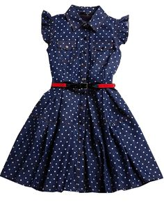 To find out about the Blue Lapel Sleeveless Ruffle Polka Dot Dress at SHEIN, part of our latest Dresses ready to shop online today! Baby Girl Dresses, Little Dresses, Cute Dresses, Baby Dress Design, Frock Design, Dress Anak, Kids Frocks Design, Girl Dress Patterns, Girl Doll Clothes