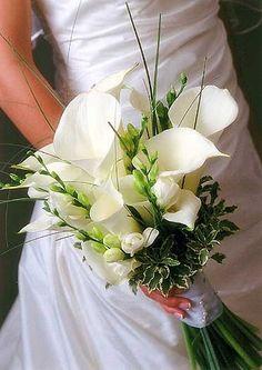 Brides bouquet up close.