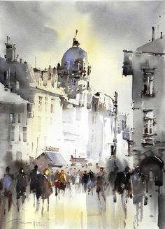 Artist: Corneliu Drăgan-Târgoviște is a member of the Birmingham Watercolour Society, and the first Romanian painter chosen to be part of this organization. #watercolor jd