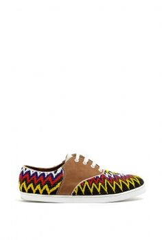 Gacha Multicoloured Hand Beaded Trainers by Twins For Peace