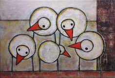 By Hans Innemee for kinder- geometric shape birds