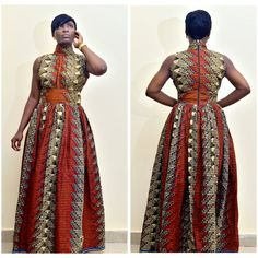 The Alicia African Print Dress African maxi dress by FashAfrique