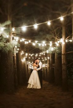 Night wedding photos look incredible with string lights in background, sparklers or moonlight. Even if it's raining, you have an opportunity for great shots. wedding night 45 Incredible Night Wedding Photos That Are Must See Romantic Night Wedding, Night Wedding Photos, Night Time Wedding, Wedding Ceremony Ideas, Wedding Pictures, Perfect Wedding, Wedding Venues, Dream Wedding, Wedding Day