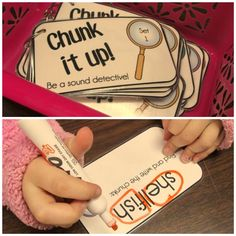 "Chunk it up: Be a Sound Detective!! Practice the reading strategy of looking for ""chunks"" that you know!"