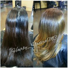 Golden brown Balyage / ombre style