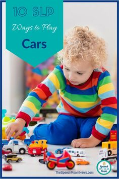 Grab your cars and let's play. Busy SLPs grow talented at utilizing a single therapy toy for multiple functions, groups and skills during the day. For me, thebest way to do therapy is to find a toy or book and use it all day with every student on your caseload.