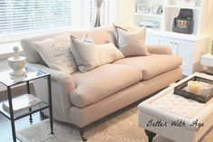 Couch Update by Better With Age www.somuchbetterwithage.com #couch #decor #home #living
