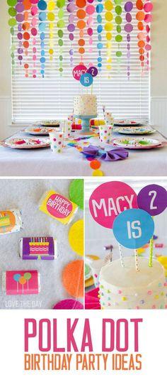 99 Polka Dot Party Ideas Polka Dot Party Party Polka Dot Birthday Party