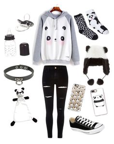 """Pandas (ddlb/ddlg)"" by transboyfanboy on Polyvore featuring Casetify, Davco, Giorgio Armani, River Island and Converse"
