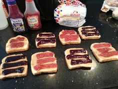 peanut butter and jelly for our fishing and crabbing adventure