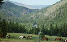 Triple Creek Ranch a luxury resort high in the Bitterroot Mountain Range of the Montana Rockies.