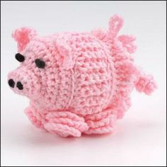 Piggy-Pie Baby Toy in Red Heart Super Saver from Crochet World magazine