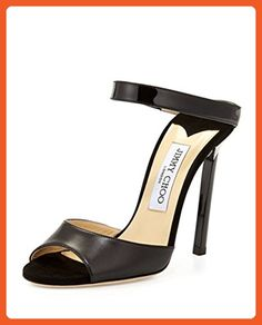 Jimmy Choo Deckle Double-Band Leather Slide Size 9US - Sandals for women (*Amazon Partner-Link)