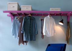 diy ladder clothes rack
