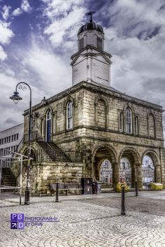 Old Town Hall in market square, south shields. South Tyneside