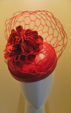 easy to carry in luggage. Fascinator Hats, Fascinators, Rose Hat, Red Hat Society, Rose Lipstick, Fall Hats, Crazy Hats, Leather Hats, Church Hats