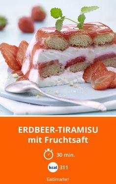 Strawberry tiramisu With fruit juice