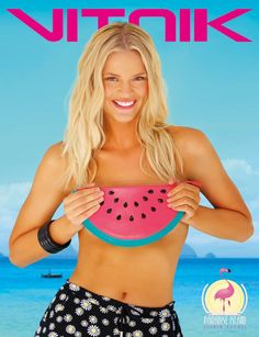 Paradise Island, Summer 2015, Retro, Crop Tops, Bra, Arte Pop, Women, Fashion, Spring Summer 2015