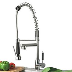 tall swivel spout kitchen sink bar faucet with pull out hand taps elegant strong hose spray