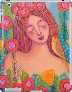 'Woman in Love' iPad Case/Skin by Sonia Koch Framed Prints, Canvas Prints, Art Prints, Lip Designs, Fat Women, Art Styles, Woman Painting, Naive, Watercolor Paintings