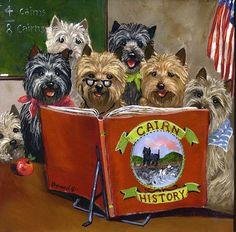 Cairn Terrier history class ... art print